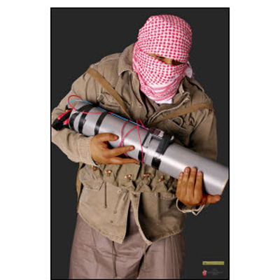 Man Carrying an IED Terrorist Photo Target