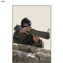Man w/ M72 Launcher Terrorist Photo Target