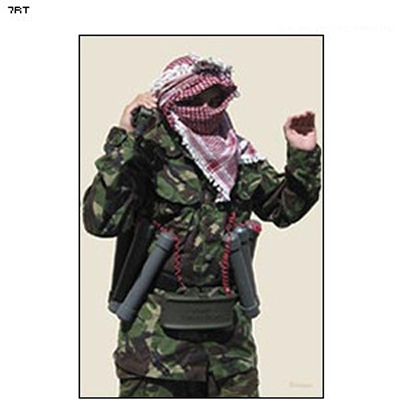 Man w/ Arms Up Terrorist Photo Target