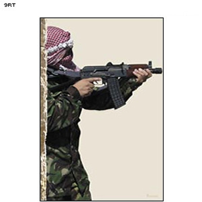 Man Firing Rifle (Profile) Terrorist Photo Target