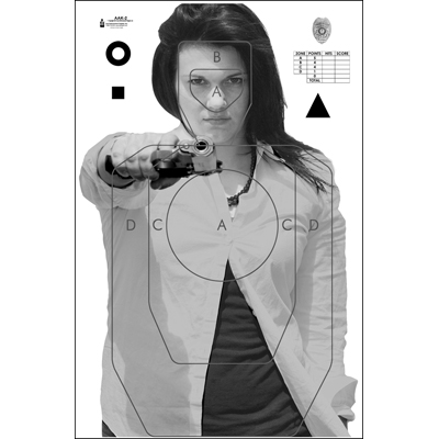 Anchorage (AK) PD Photo Target - ALL WEATHER RESISTANT TARGET ON HEAVY PAPER