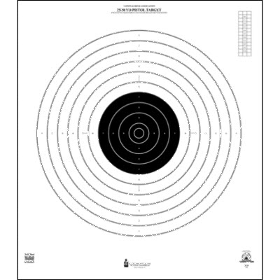 Official NRA International 25/50-Yard Slow Fire Pistol Target (B-19)