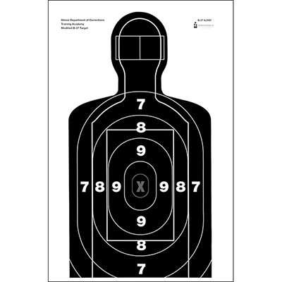 Illinois Dept. of Corrections Modified B-27 Target