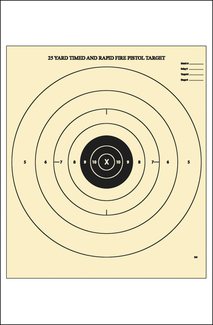 picture relating to Nra B-8 Target Printable referred to as Legislation Enforcement Goals Stage Emphasis : NRA B-8 25-Back garden
