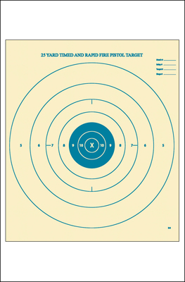 B-8 25-Yard Timed and Rapid Fire Target (Blue)
