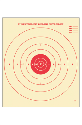 B-8 25-Yard Timed and Rapid Fire Target (Red)
