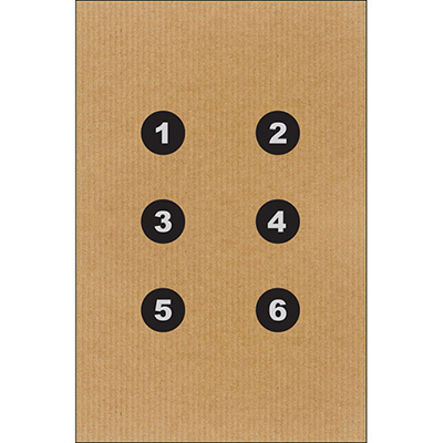 DEA Cardboard Dot Command Training Target