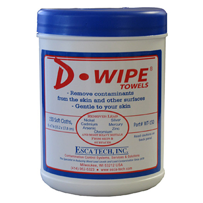 ESCA Tech D-Wipe Towelettes - Box of 150