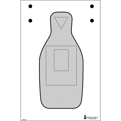 Modified FBI-Q Cardboard Target