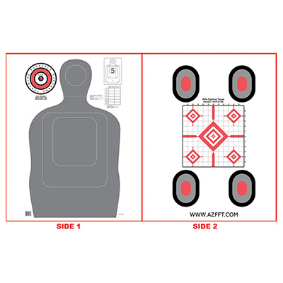 Flexible Firearms Training Two-Sided Target