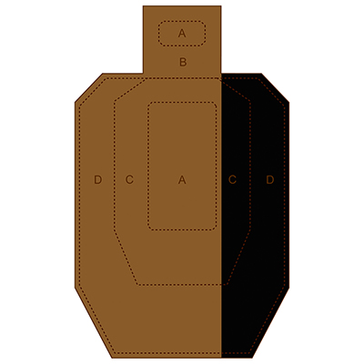 Hard Cover IPSC Cardboard Target (Version 6)