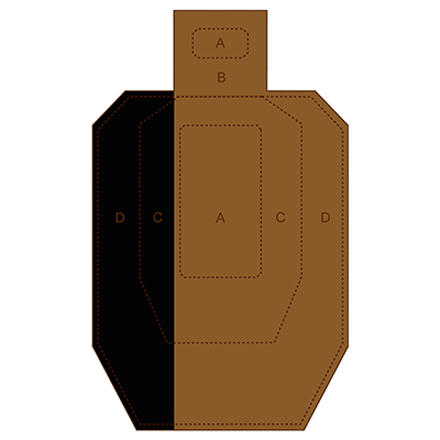 Hard Cover IPSC Cardboard Target (Version 7)