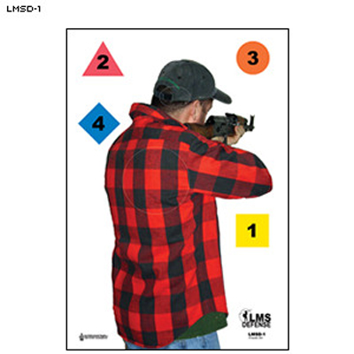 LMS Defense Tactical Firearms Rear View Target