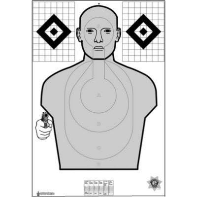 Las Vegas Metro (NV) PD Hostile Qualification Cardboard Target