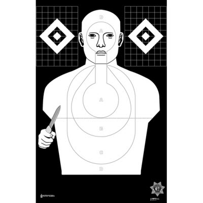 Las Vegas Metro (NV) PD Low-Light Hostile Qualification Cardboard Target