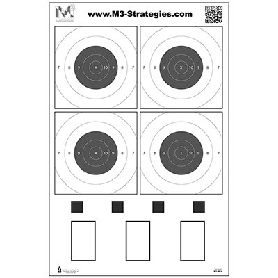 M3 Strategies Multi-Purpose Training Target (Version 4)