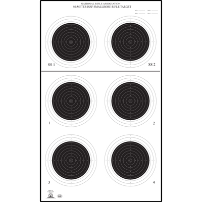 Official NRA Small Bore Rifle 50-Meter UIT Target (A-50)