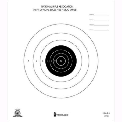 Official NRA 50-Foot Slow Fire Pistol Target (B-2)