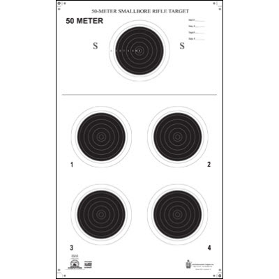 Official NRA Small Bore Rifle 50-Meter Prone Target (A-26)