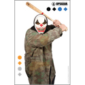 OpsGear Clown Target - Baseball Bat & Camo Clown