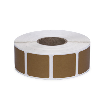"Roll of 1000 7/8"" Square Target Pasters (Cardboard)"