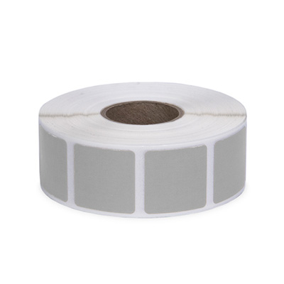 "Roll of 1000 7/8"" Square Target Pasters (Light Gray)"