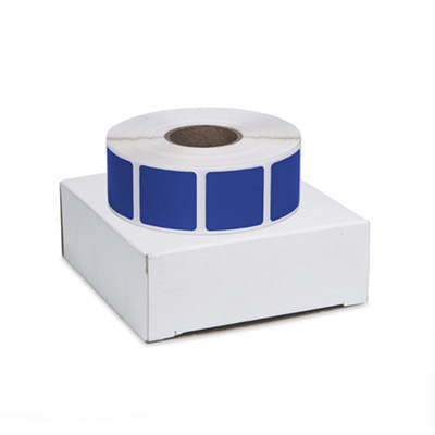"Roll of 1000 7/8"" Square Target Pasters (Dark Blue) - Includes Box"