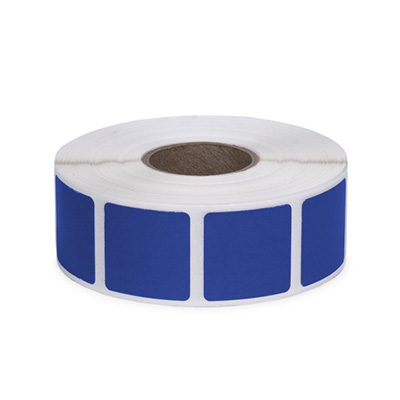 "Roll of 1000 7/8"" Square Target Pasters (Dark Blue)"