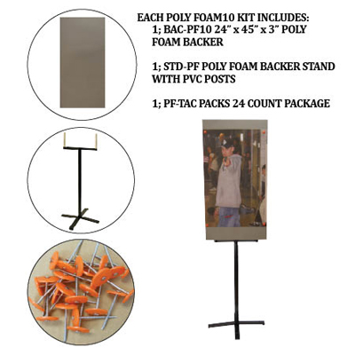 Poly Foam Backer and Stand Kit