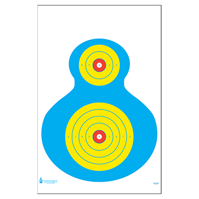 High Visibility Fluorescent Silhouette Target