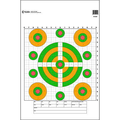 High Visibility Fluorescent Sighting Target