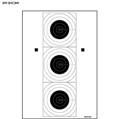 SR-21C Three Bull's-Eye Training Target