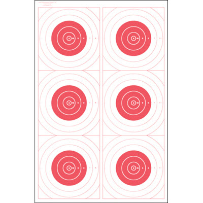 Six Bull's-Eye Military Training Target (Red)