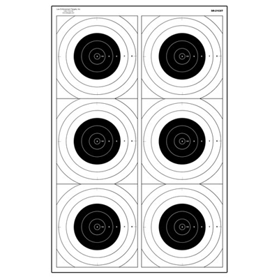 Six Bull's-Eye Military Training Target