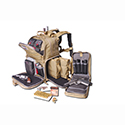 Tactical Range Backpack* Holds 3 Handguns (Tan) - GPS BAGS