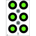Trident Concepts Fluorescent Green Bull's-Eye Target