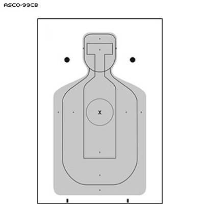Alameda Co. Sheriff's Office Cardboard Target (Version 1)