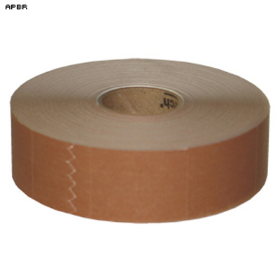 "Roll of 1000 1"" x 1 1/4"" Self Adhesive Target Pasters (Brown)"