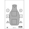 SWAT SEB Training Target w/ Q Scoring - ALL WEATHER RESISTANT TARGET ON HEAVY PAPER