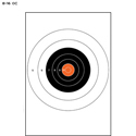 NRA 25-Yard Slow Fire Pistol Target (B-16) (Orange Center)