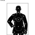 Qty100 B21 Black LEPolice Silhouette Shooting Targets