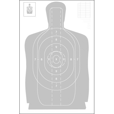 Indiana Law Enforcement Academy B-27 Target