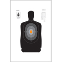 North Carolina Criminal Justice Academy 25-Yard Reduction B-27 Target
