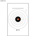 B-8 25-Yard Timed and Rapid Fire Target (Orange Center)