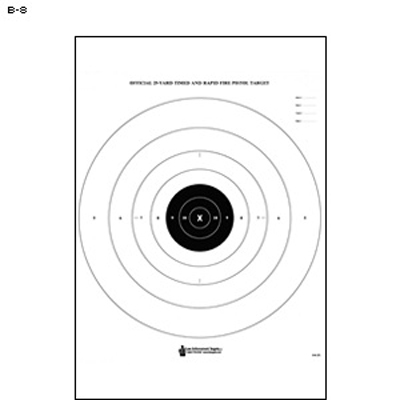 25-Yard Timed and Rapid Fire Pistol Target (B-8)