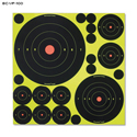 Shoot-N-C Variety Pack of Self-Adhesive Splatter Targets (100 Pack)