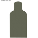 Green Chipboard Military E-Silhouette Bobber Target