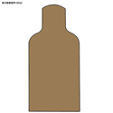 Double Wall Cardboard Military E-Silhouette Bobber Target