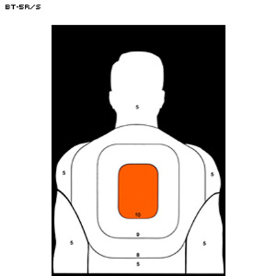 25-Yard Reverse BT-5 Target (Orange Center)