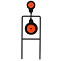 Birchwood Casey Sharpshooter Double Mag Action Spinning Target